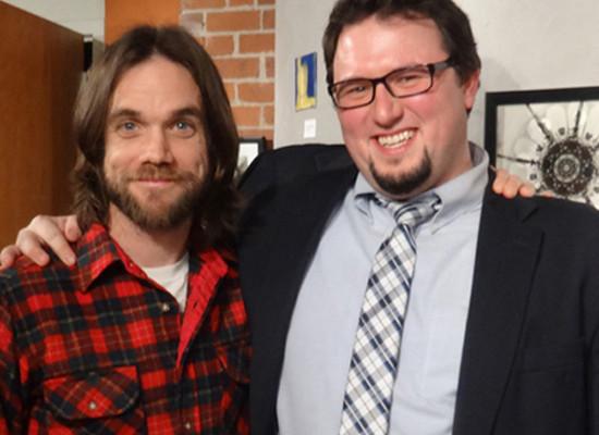 GMO OMG Director Jeremy Seifert and VPIRG's Falko Schilling