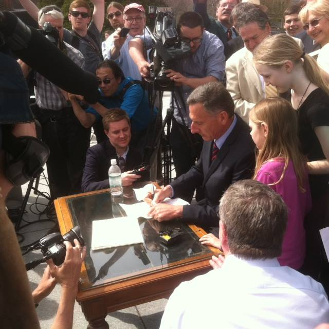 Shumlin Signing