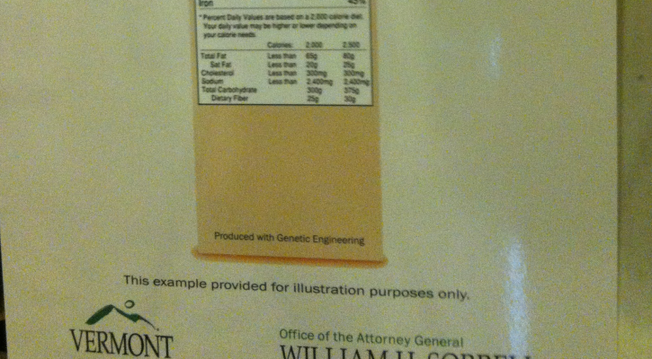 Cropped GMO Label